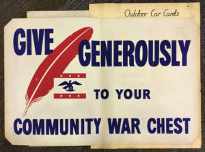 Give Generously to your Community War Chest