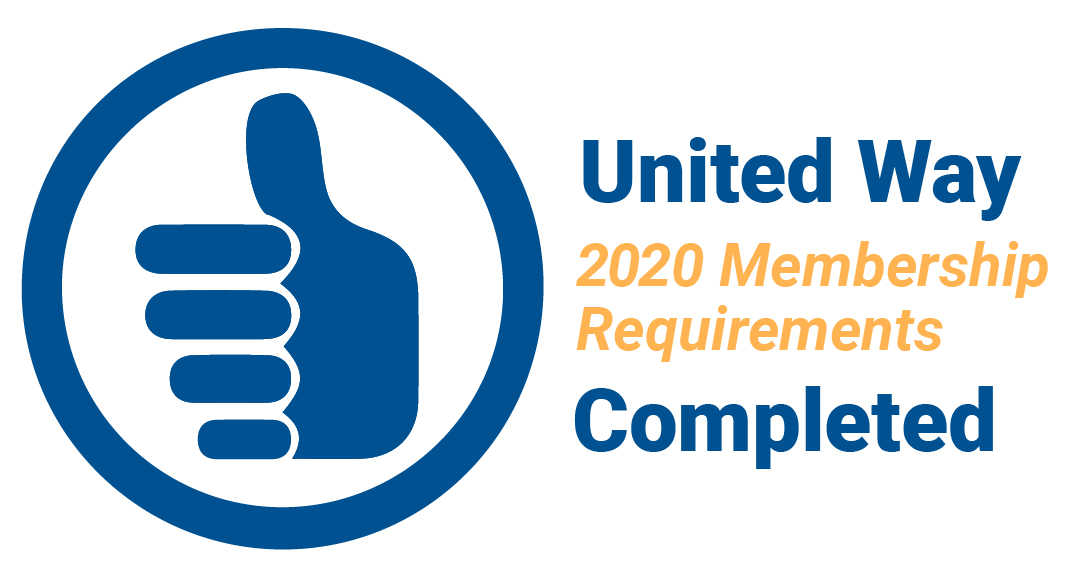 United Way 2020 Membership Requirements Completed